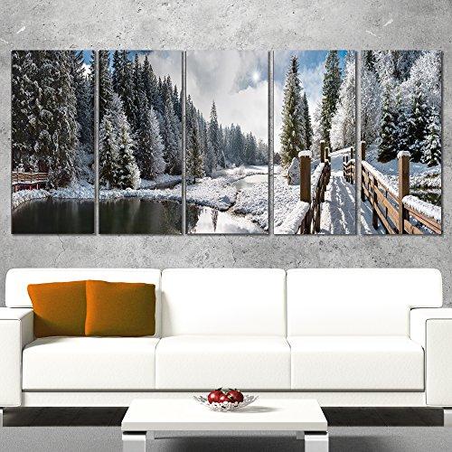 Landscape Panorama (Designart Winter Morning Panorama-Landscape Photo Canvas Print-60x28-5, 60x28-5 Equal Panels)