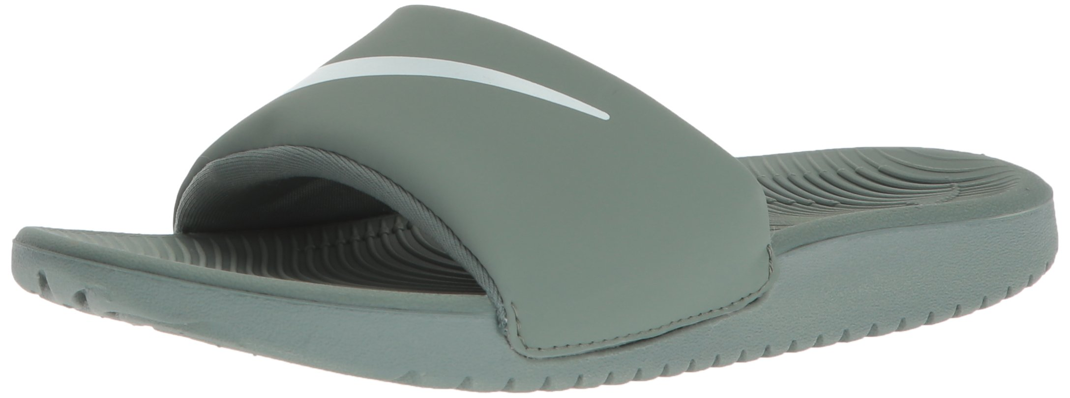 Nike Boys' Kawa Slide (GS/PS) Athletic Sandal, Clay Green/Barely Grey, 6 M US Big Kid