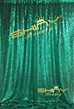 ShinyBeauty Green Draping Sequin Fabric Backdrop 120'' x 120'', Handmake Sequin Fabric, Sequin Background-10FTx20FT