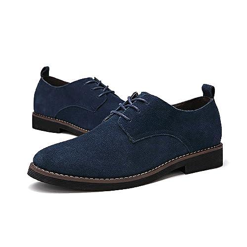 Zapatos de Cordones PU-Cuero Nubuck, Zapatillas Oxford para Hombre Marrón 40.5 EU