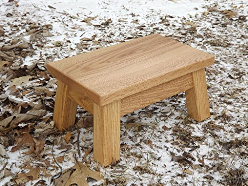 Oak step stool/ farmhouse/ foot stool/ modern/ wood step stool/ riser 10