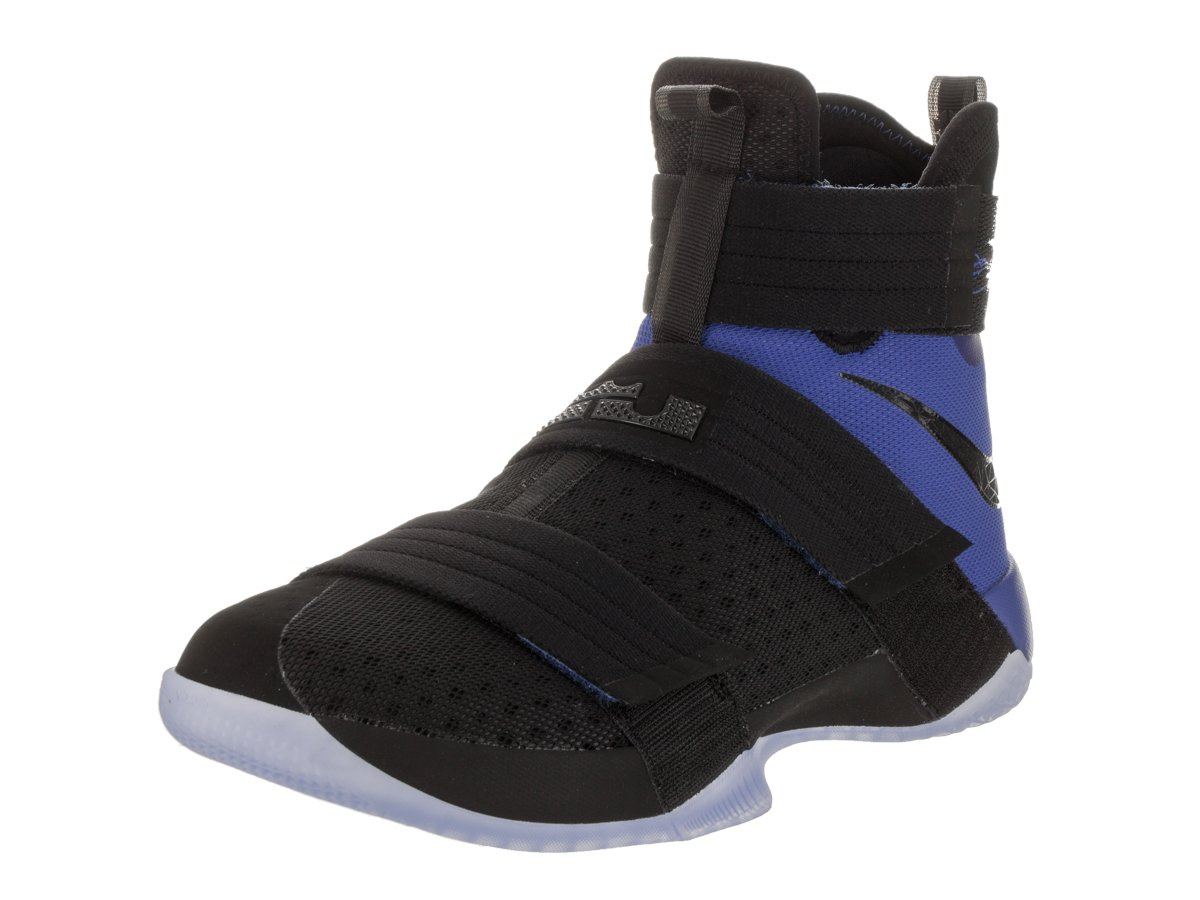 Nike Mens Lebron Soldier 10 Sfg Black/Black/Game Royal Basketball Shoe 10 Men US