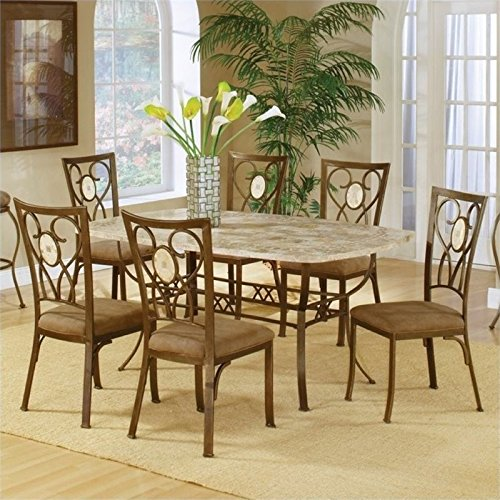 Bowery Hill 7 Piece Dining Set in Brown