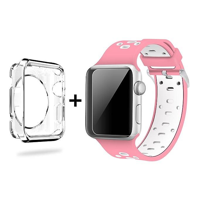 Apple Watch Banda, jun-q suave silicona correa de muñeca de ...