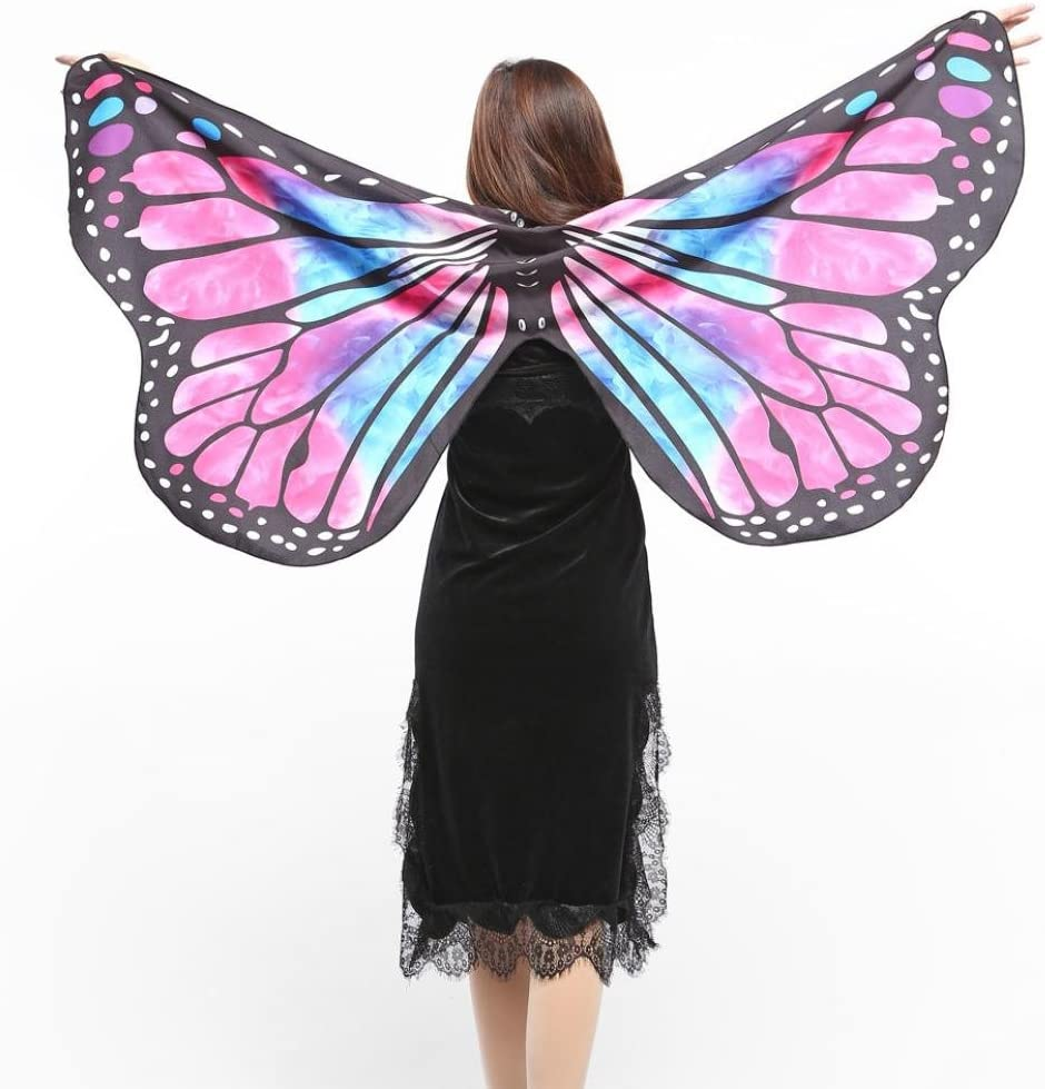 VENMO Disfraz de Chal de Alas de Mariposa Adulto Chica Mujer ...