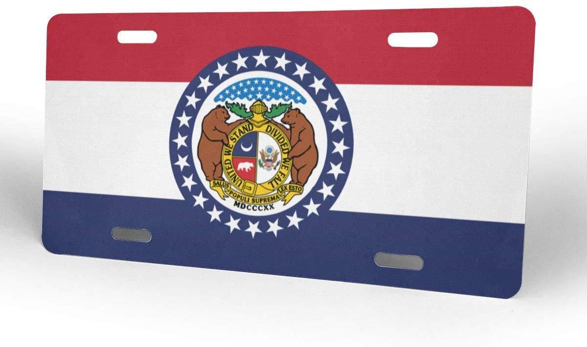 JIA KOAH Missouri Flag License Plates for Car Decoration Targa retr/ò Bar Caffetteria Negozio Vintage Metallo Poster Decorazione