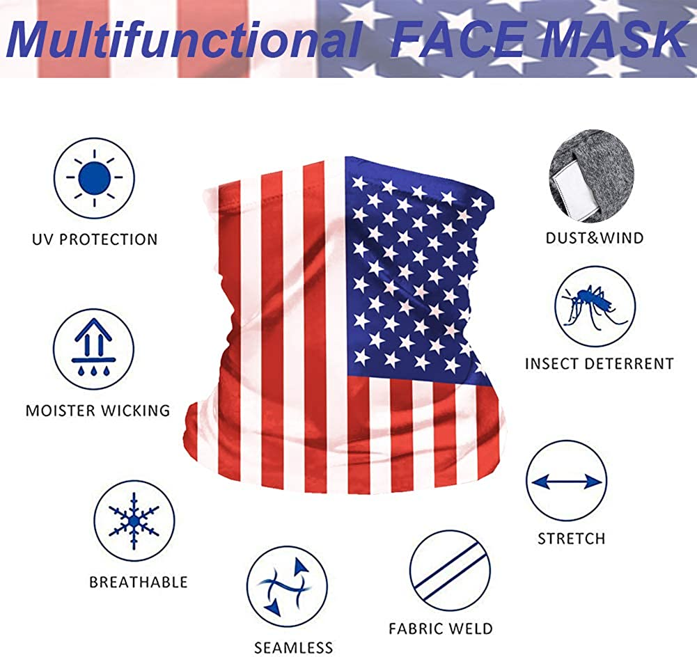 2Pcs Multifunctional Kids UV Protection Face Cover Neck Gaiter for Hot Summer Cycling Hiking Sport Outdoor