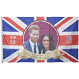 Royal Wedding Harry and Meghan Rayon Flag with Grommets 80 x 133cm