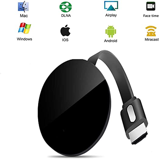 Wireless WiFi Display Dongle, Adaptador de Receptor de TV HDMI 1080P, Adaptador HDMI Inalámbrico para Segundo Video en Tiempo Real Compartir Video HD: Amazon.es: Iluminación