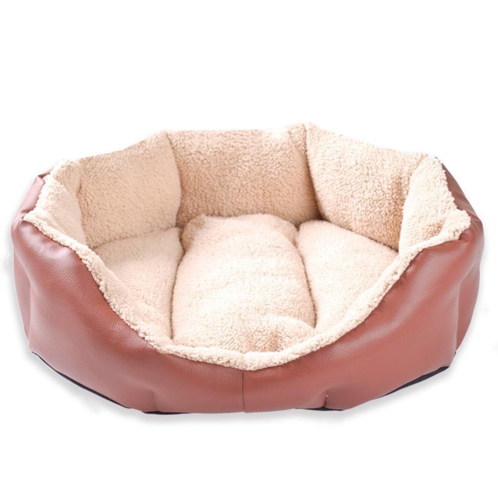 B 454214cm B 454214cm Gwanna Pet Bolster Dog Bed Comfort Lamb Litter Cat litter dog bed pet nest Soft Pad for Pets Sleeping (color   B, Size   45  42  14cm)