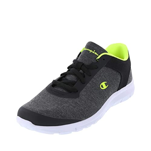 2a8ac998493 Image Unavailable. Image not available for. Color  Champion Grey Jersey  Lime Men s Gusto Performance Cross Trainer 8.5 Regular