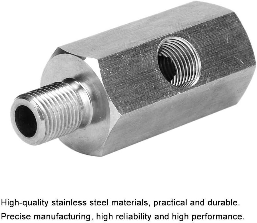 Stainless Steel Oil Pressure Gauge Meter Adapter 1//8in NPT Female BSPP BSP Male and Female Tee Oil Pressure Meter Adapter