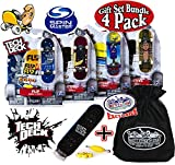 Tech Deck 96mm Individual Fingerboards Gift Set Party Bundle with Bonus Exclusive ''Matty's Toy Stop'' Storage Bag - 4 Pack (Assorted Styles)