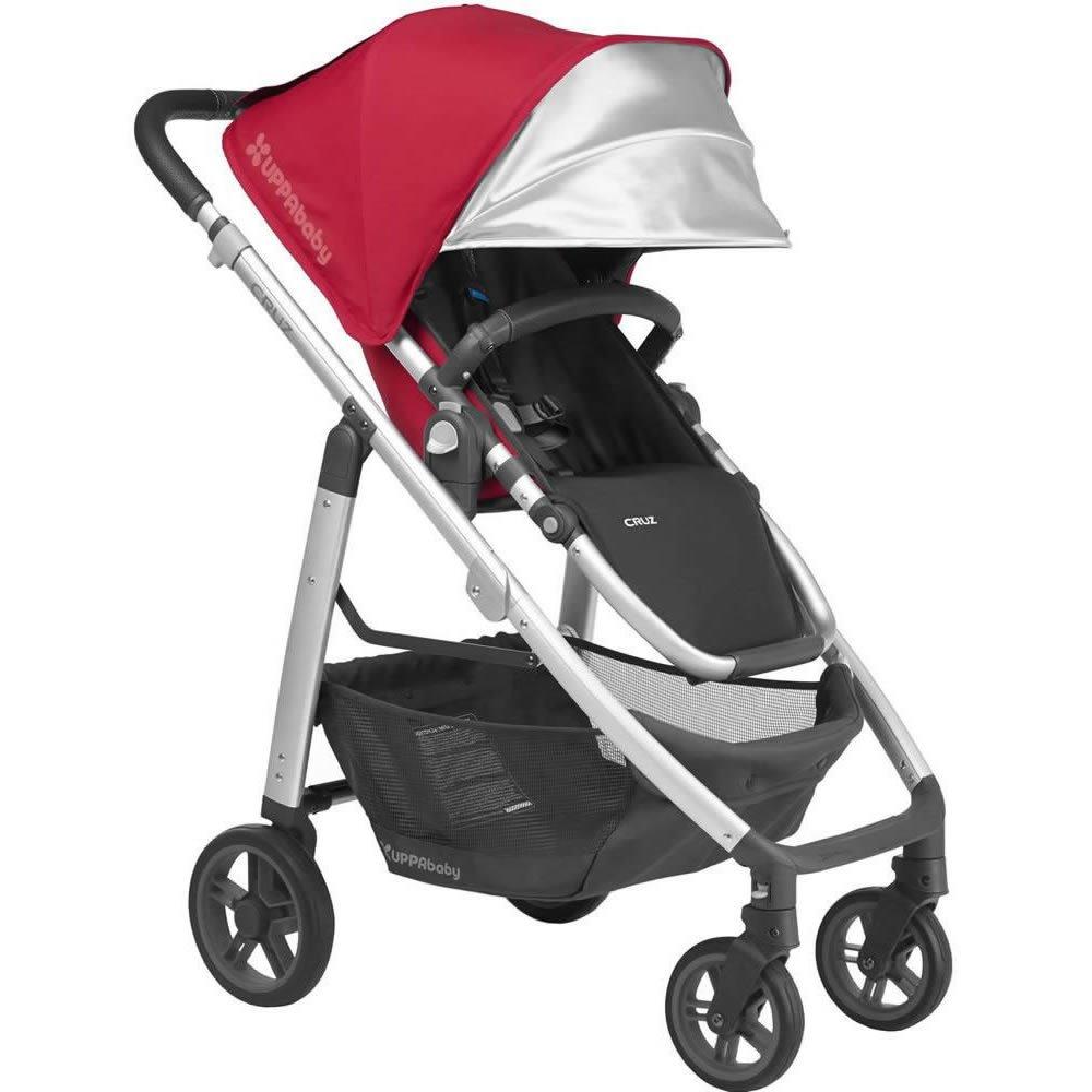 f4024a21a7a4af Amazon.com   2018 UPPABaby CRUZ Stroller -Denny (Red Silver Black Leather)  + CRUZ Travel Bag   Baby