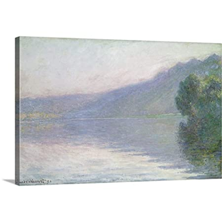 The Seine at Port Villez, 1894 Canvas Wall Art Print, 36 x24 x1.25