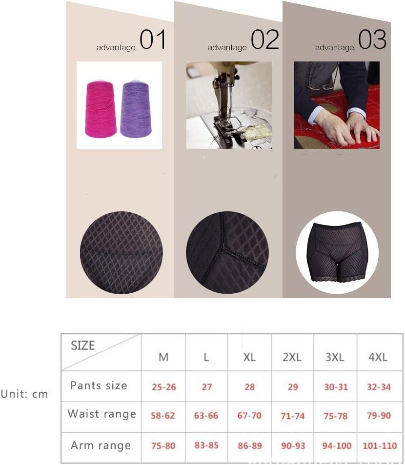 QQA Women Boyshort Seamless Padded Panties Fake Buttock Tummy Control Underwear,M