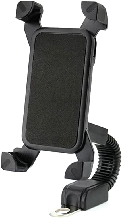 Samsung Galaxy S5 S6 S7 S8 Smartphones Motorcycle Motorbike Phone Mount Holder Handlebar For 3.5-6.5 inch iPhone 8 7 6 6s 7Plus 5 5s Black 360 Degree Rotation TiTing Motorcycle Phone Holder