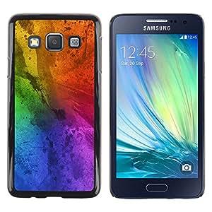 LECELL--Funda protectora / Cubierta / Piel For Samsung Galaxy A3 SM-A300 -- Messy Rainbow Colorful Blue --