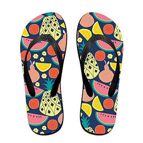 JESUS SAUCEDO Fruits Party Travel V Flip Flops Beach Slippers Chinela Baboosh Babouche Sandals