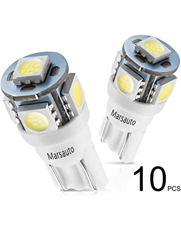 Marsauto 194 LED Light Bulb 6000K 168 T10 2825 5SMD LED Replacement Bulbs for Car Dome