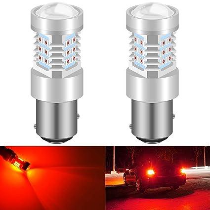 KaTur 1157 BAY15D 7528 1016 Bombillas LED de Alta Potencia 2835 21 Chipsets con reemplazo de proyector para Luces traseras Luces de Freno Luces ...