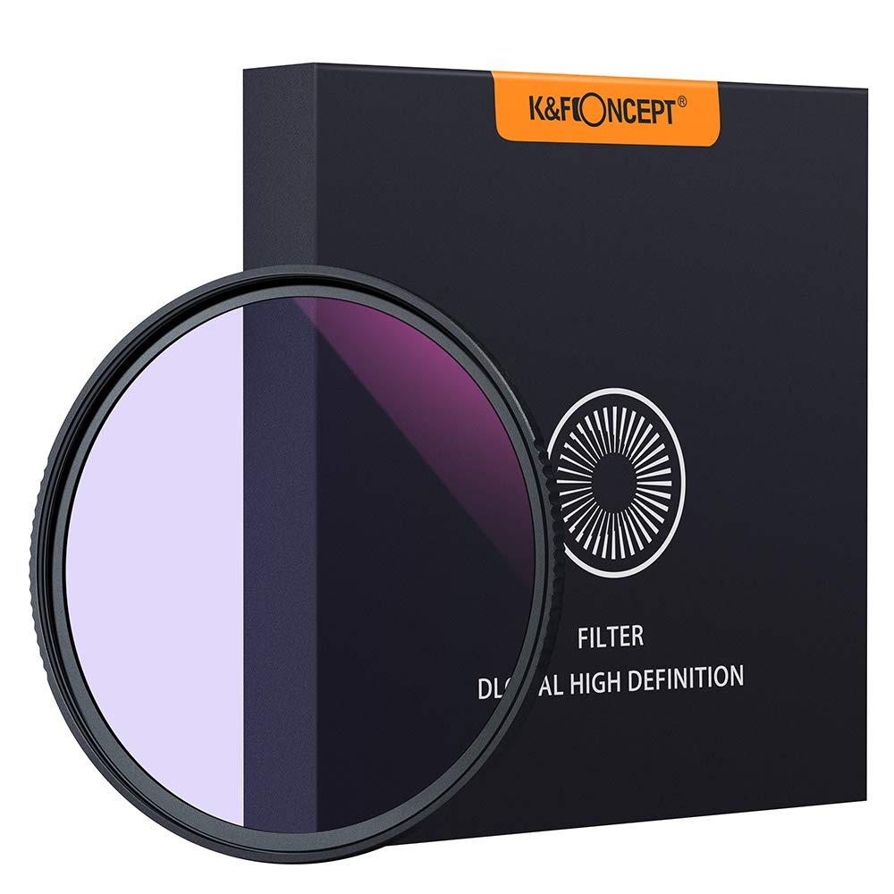 K&F Concept 82mm Clear-Night Filter Multiple Layer Nano Coating Pollution Reduction for Night Sky/Star