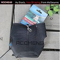 Small Animal Harness Guinea Pig Forret Hamster Rabbit Squirrel Vest Clothes Lead (Medium, Black)