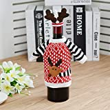 Christmas Table Elk Red Wine Bottle Sets Christmas Champagne Bottle Sets Christmas Western Restaurant Wine Bottle Decorations Deer sweater bottle set
