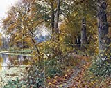 FOREST by Peder Monsted trees lake river birds autumn leaf fall Tile Mural Kitchen Bathroom Wall Backsplash Behind Stove Range Sink Splashback 5x4 4.25'' Ceramic, Glossy