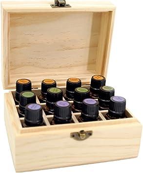 Caja organizadora de madera para aceites esenciales de ...