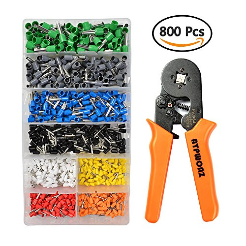 ATPWONZ Crimper Tool Kit | 800 AWG23-10 Ferrule Crimper Plier Wire Terminal and Connection Kit | Electrician Contractors Repairs Support
