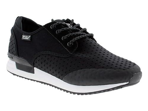 W.A.U. Zapatillas de Material Sintético Para Hombre Negro Negro Negro Size: 44: Amazon.es: Zapatos y complementos