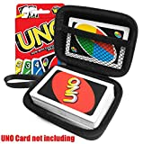 uno game - FitSand (TM) Travel Zipper Carry EVA Hard Case for UNO Card Game - Black Box, Blacker Box, Best Protection for UNO Cards