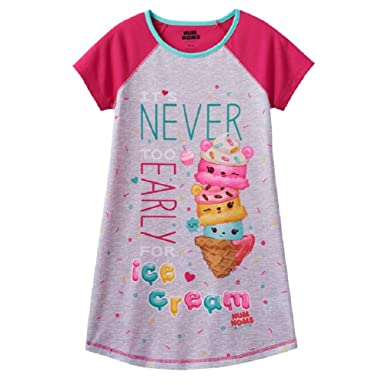 Num Noms Girls Night Gown Shirt Pajamas Scented Cupcake Graphic (6-6X)