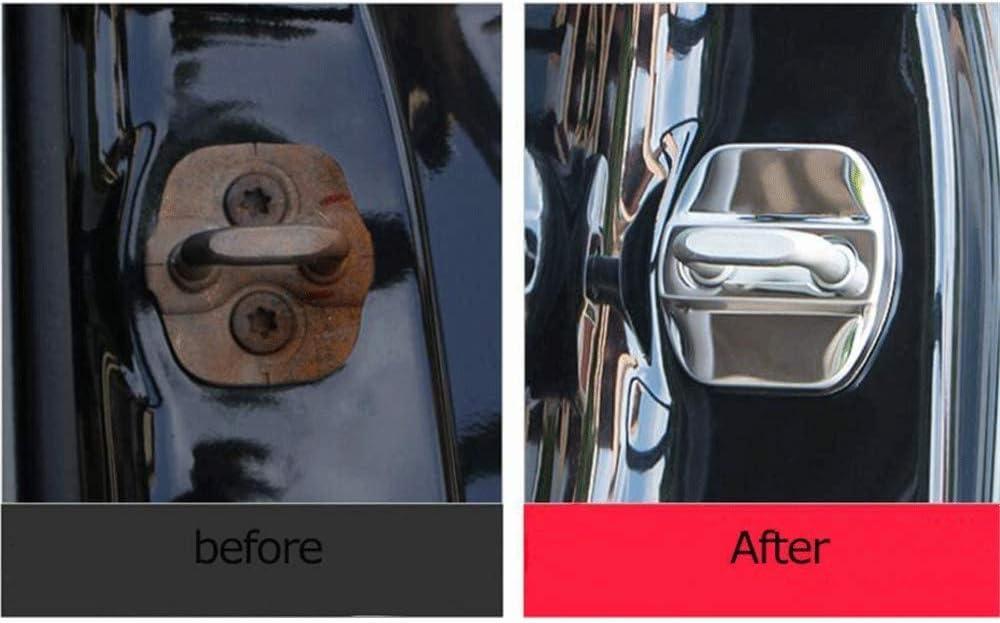 Dekoration Zubeh/ör Schnallen-Kappe Schutz gegen Korrosion 2019 Auto-Verriegelung Rost OZ6YA Auto-T/ürschloss-Abdeckung aus Edelstahl f/ür Nissan Qashqai MK2 J11 2013