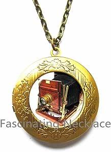 Photographer Jewelry Glass Photo Art Locket Necklace Camera Lens Photography Locket Necklace Photographer,AE0072 Camera Jewelry Locket Necklace