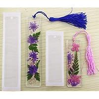 2 Unids/set Multi-funcional DIY Marcador Moldes De Silicona Para Hacer Las Artesanías Colgantes de Resina Epoxi, Color Blanco