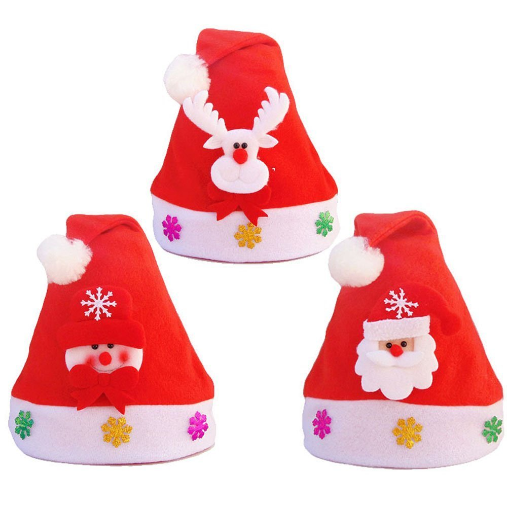 3 Pcs Led Christmas Hat Buycheapdg Xmas Cap Santa Claus Hats Kid
