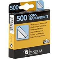 Panodia 270893 Boîte de 500 Coins Photos Adhésifs Transparent