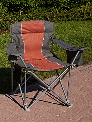 1,000-lb. Capacity Heavy-Duty Portable Chair (Orange)