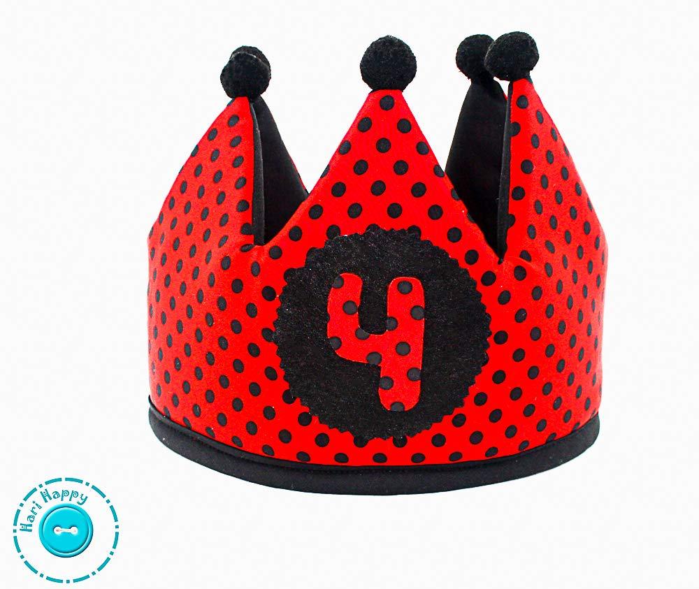 Hari happy Corona cumpleaños Lunares Ladybug: Amazon.es ...