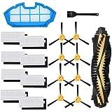Jorllina Piezas de repuesto compatibles con filtros de aspiradora robot Yeedi K600, K700 y accesorios de cepillos