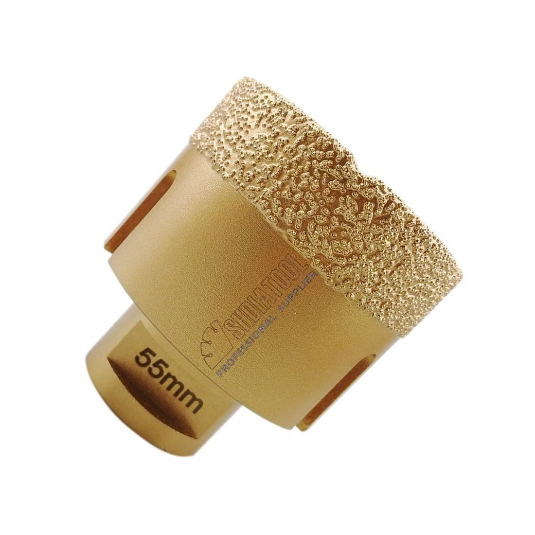 SHDIATOOL Broca de Diamante 35MM Vac/ío Soldadura para Perforaci/ón en Seco Porcelana Azulejo Granito M/ármol M14