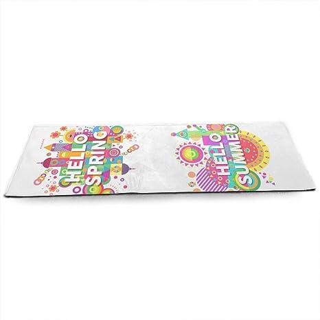 Amazon.com : MEYU3ZU Hello Summer Color Yoga Mat for All ...
