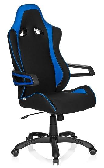 621840 Ii Chefsessel Gaming Schwarzblau Armlehnen Hjh Racer Office Stuhl Mit Pro Stoff Racing SUpzMV