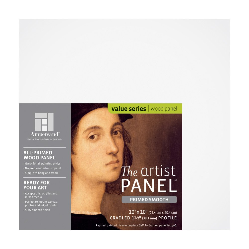 Ampersand Art Supply Primed Smooth Artist Panel 1/8 Flat Profile 12x16 APS1216