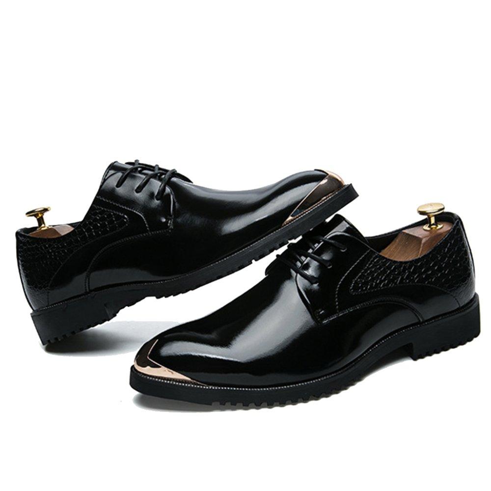 DNSZRY Schuhe Herren Schnürschuhe Formal Kleid Schuhe DNSZRY Hell Pu Burnish Leder Business Arbeit Hochzeit Spitz Schuh Bequem Atmungsaktiv Schuhe schwarz af8f28