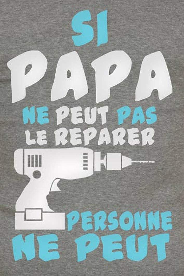 T-Shirt Homme Coton col Rond. Gazol Id/ée Cadeau Papa Si Papa ne Peut Pas Le r/éparer Personne ne Peut