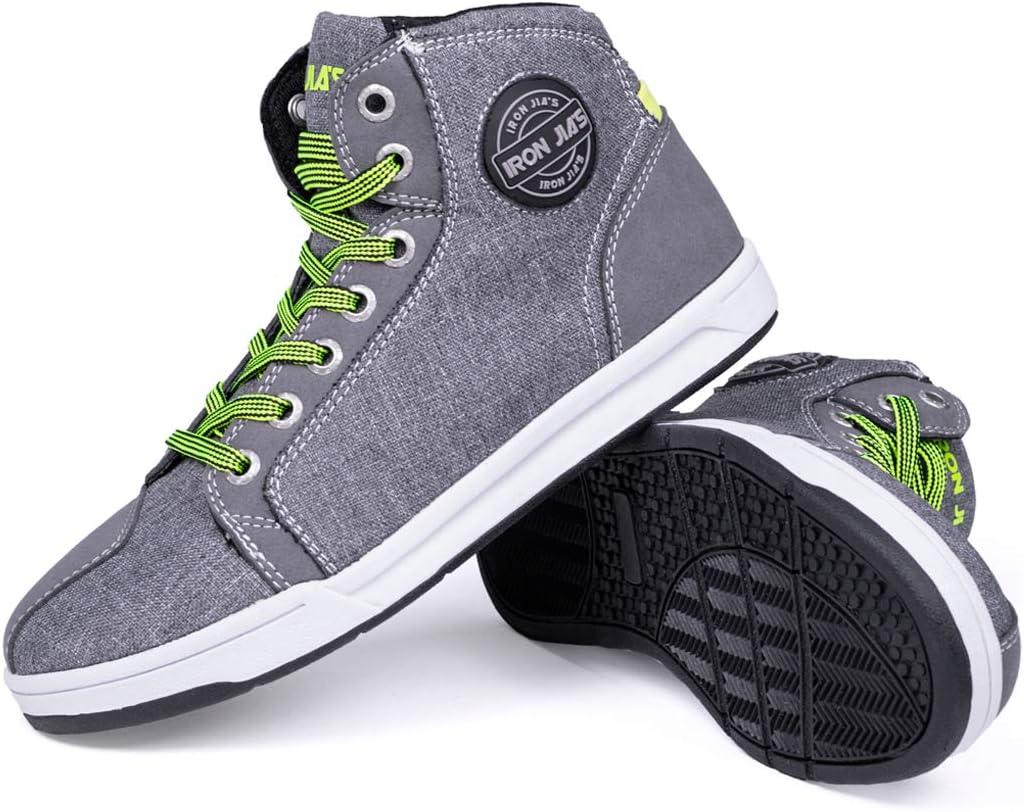 Botas Moto de la Moda, Zapatillas de Deporte Ocasionales de la Bici de la Calle, Zapatos del Ocio de la Motocicleta con la Suela Antideslizante 44