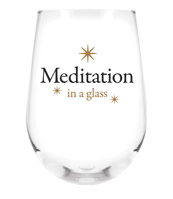SB Design StudioGratitude Cocktail Stemless Wine Glasses Happiness Set of 2